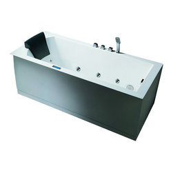 "Ariel - Ariel Platinum AM154 59"" L Whirlpool Bathtub 59x30x25 - Take a dip in this elegant whirlpool bathtub. Equipped with hydro-massage jets designed to target your pressure points for a relaxing experience. Dimensions:  59 x 30 x 25, ETL listed (US & Canada electrical safety) 220v, LCD touchscreen control panel   FM Radio for Easy Listening , 21 Whirlpool Massage Jets 6 Massage Modes/ 4 intensity optioins, 2 HP Pump, Handheld showerhead, Chromatherapy Lighting to Set the Mood, Ozone disinfecting cleaning system, Auto pipe cleaning, Heat Pump, Gallons: 61"