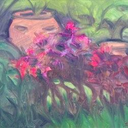 """Pot In The Garden"" Artwork - A flower pot in our garden."