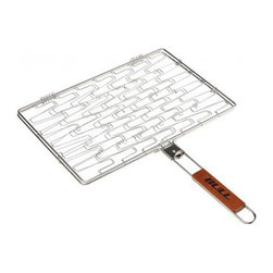 Bull BBQ - Bull Outdoor Stainless Rectangle Flexi Grilling Basket - The Stainless Rectangle Flexi Grilling Basket has a flexible wire that expands to fit the shape of your food. It is great for chicken, fish, and vegetables.