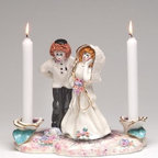 ATD - 9 Inch Mazeli Tov Center Piece Red Hair Couple Taper Candle Holder - This gorgeous 9 Inch Mazeli Tov Center Piece Red Hair Couple Taper Candle Holder has the finest details and highest quality you will find anywhere! 9 Inch Mazeli Tov Center Piece Red Hair Couple Taper Candle Holder is truly remarkable.