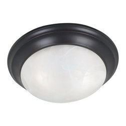Kenroy Home - Kenroy 80361ORB Dickens 2 Light Flush Mount - Dickens is available in two classic finishes to make coordinating easy.  With twist lock glass and a contemporary design, this flush mount family is a must for any modern home.