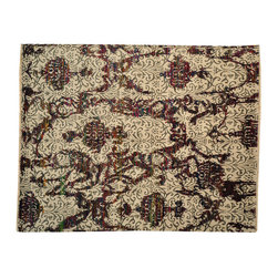 1800-Get-A-Rug - Oriental Rug Modern Wool and Sari Silk Hand Knotted Rug Sh13499 - About Modern & Contemporary