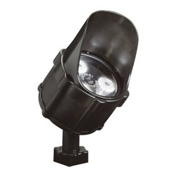 LANDSCAPE - LANDSCAPE 4.5W 10 Degree Spread Landscape LED Accent Light X-TKB13751 - This Kichler Lighting outdoor landscape LED light features a Textured Black finish allowing it to blend into the surrounding landscape. The LED light helps to create a clean but dramatic light.