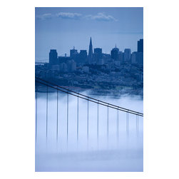 Custom Photo Factory - San Francisco Skyline, California Canvas Wall Art - San Francisco Skyline, California  Size: 20 Inches x 30 Inches . Ready to Hang on 1.5 Inch Thick Wooden Frame. 30 Day Money Back Guarantee. Made in America-Los Angeles, CA. High Quality, Archival Museum Grade Canvas. Will last 150 Plus Years Without Fading. High quality canvas art print using archival inks and museum grade canvas. Archival quality canvas print will last over 150 years without fading. Canvas reproduction comes in different sizes. Gallery-wrapped style: the entire print is wrapped around 1.5 inch thick wooden frame. We use the highest quality pine wood available. By purchasing this canvas art photo, you agree it's for personal use only and it's not for republication, re-transmission, reproduction or other use.