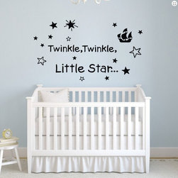 ColorfulHall Co., LTD - Kids Wall Stickers Twinkle Twinkle Little Star - Kids Wall Stickers Twinkle Twinkle Little Star