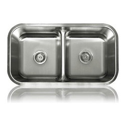Lenova - Lenova Ss-Ld-01 Undermount Double Bowl Kitchen Sink Stainless Steel - The Lenova SS-LD-01 Specialty Double-Bowl Undermount Kitchen Sink has overall sink dimensions of 32-3/8-Inch by 18-1/8-Inch and left and right bowl dimensions of 16-1/8-Inch by 14-5/8-Inch by 8-Inch. The name Lenova is born from a love of space and stars where the universe is truly unlimited. In this boundless spirit we present a line of new and timeless designs for kitchen and bath sinks. The Specialty Group collection of resourceful sinks for defined tasks. Premium type 304 18-Gauge stainless steel with a scratch-resistant silk finish plus our 5-side sound baffling. The Specialty Group is a gathering of elite performance sinks. Covered by Lenova's Limited Lifetime Warranty: Lenova Sinkware warrants all of its stainless steel sinks to be free of all manufacturing and material defects under normal use by the original owner.