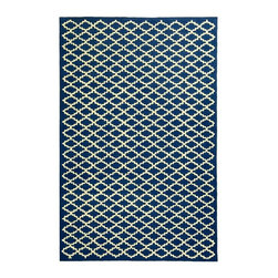 Safavieh - Newport Indigo and Ivory Cotton Area Rug (2 ft. 6 in. x 4 ft. 3 in) - Size: 2 ft. 6 in. x 4 ft. 3 in. Hand Hooked. Made of Cotton. The Newport Collection by Safavieh uses hand-Hooked transitional designs and a wonderful color palette to create a long lasting piece that will go beautifully in any of your living areas.