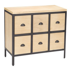 Sterling Industries - Chest 6 Drawers With Iron Frames - Chest 6 Drawers with Iron Frames