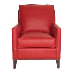 Vanguard - Katie Chair - Body - Bocchino Cardinal, Nails - #9 Natural Brass - Finish - Weldon