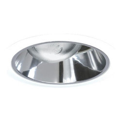 Juno Lighting Group - Adjustable Tapered Cone for 6-Inch Recessed Housing - 267B-WH - This downlight features a black Alzak� finish, adjustable tapered cone and white trim ring. It measures 7-5/8 inches in diameter with a 4-inch aperture. Takes (1) 75-watt halogen PAR30 bulb(s). Bulb(s) sold separately. Dry location rated.