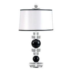 Schonbek Lighting - Schonbek Lighting 10438N-40 Deco Silver Table Lamp - 1 Bulb, 100 Watt G9 Halogen, Bulb Included; Product made-to-order, 6-8 week lead time