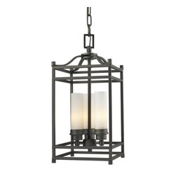 Z-Lite - Z-Lite 181-3 Altadore 3 Light Mini Pendant - Traditional styling meets modern functionality in this three light fixture. Matte opal cylindrical shades are combined with bronze hardware for a crisp, cutting edge look that still has classic appeal.Features: