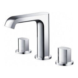 Fresca - Fresca FFT3906CH Tusciano Widespread Mount Bathroom Vanity Faucet - Chrome - Fresca FFT3906CH Tusciano Widespread Mount Bathroom Vanity Faucet - Chrome