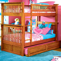 Colorado Twin over Twin Bunk Bed with Trundle in Caramel Latte - [14:15:05] Наташа: Want to create a multi-functional, stylish and beautiful kid's bedroom? Take a closer look at this bunk bed. It is made in transitional style with caramel latte finish. The room will be even more interesting, comfortable and cozy. This bed has solid Hardwood eco-friendly construction. Thanks to high quality materials and technology, this bed will last you many years.