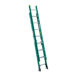 Werner D5916-2 16 ft. Fiberglass Extension Ladder - Ideal for painting, construction, or home repair, the Werner D5916-2 16 ft. Fiberglass Extension Ladder offers the strength, stability, and height you need to get the job done. This ladder features a durable fiberglass construction with a 225-pound duty rating. Its large gravity spring locks keep the extension stable. Slip-resistant shoe pads and spur plates offer a secure footing. Traction-Tred D-rungs feel safe and secure.About WernerWerner is an industry leader that has manufactured and distributed ladders and climbing equipment for over 60 years. Werner ladders are found on more trucks and job sites than all other brands combined. Each product offers a state-of-the-art design and manufacturing process, creating professional-grade products that are made to be utilized in the home as well as on the job site. Werner Co. products are built to meet or exceed all applicable American National Standards Institute (ANSI) and Occupational Safety and Health Administration (OSHA) code requirements.