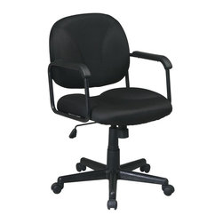Office Star - Managers Chair w Locking Tilt Control (Navy i - Fabric: Navy in Icon PatternPneumatic seat height adjustment. 22.5 in. W x 22.5 in. L x 38.25 in. H
