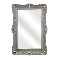 Embossed Carrington Wall Mirror - *The Carrington Wall Mirror, by designer Ella Elaine, is a classic design featuring an embossed pattern and cutout accents in the frame. Whether you hang this fetching mirror in your entryway, living room or bedroom, you are sure to love it.