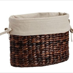 Savannah/Havana Magazine Basket Oval Basket Liner, Flax - Our pure cotton ivory liners make it easy to tote laundry, recyclables or other around-the-house items from your baskets to their destination, all while keeping your baskets nice and clean. Woven of pure cotton. Machine wash. Catalog / Internet only. Imported.