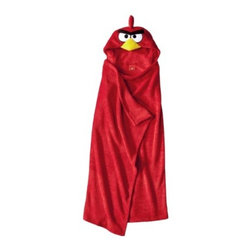 Angry Birds Hooded Blanket - Kids love playing Angry Birds, and now they can even wear an Angry Bird!