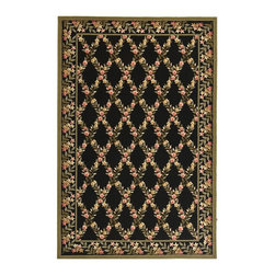 "Safavieh - Country & Floral Wilton 2'6""x4'3"" Rectangle Black - Green Area Rug - The Wilton area rug Collection offers an affordable assortment of Country & Floral stylings. Wilton features a blend of natural Black - Green color. Hand Hooked of Wool the Wilton Collection is an intriguing compliment to any decor."