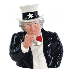 Westland - 11.5 Inch United States American Uncle Sam Cookie Jar Food Storage - This gorgeous 11.5 Inch United States American Uncle Sam Cookie Jar Food Storage has the finest details and highest quality you will find anywhere! 11.5 Inch United States American Uncle Sam Cookie Jar Food Storage is truly remarkable.
