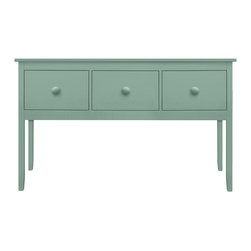 "Large Margate Buffet - The Large Margate Buffet's GINORMOUS drawers are just the ticket for keeping the family sterling silver organized, along with the antique linens. Beach house furniture never seemed so functional! (Did you know that ""ginormous"" is now a bona fide word in Webster's? No, really.) Available in one of 50 Maine Cottage® colors."