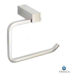 Fresca - Fresca FAC0427BN Ottimo Toilet Paper Holder - Brushed Nickel - Fresca FAC0427BN Ottimo Toilet Paper Holder - Brushed Nickel