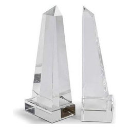 Regina Andrew - Regina Andrew Obelisk Book Ends - Regina Andrew Design redefines contemporary style. With an artist's eye, they skillfully mix modern with rustic; elegant with casual; romantic with relaxed. It's an eclectic vision that resonates with natural style, and a modern new look at how we live today.