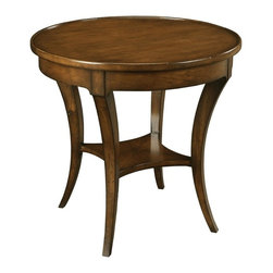 """EuroLux Home - New Side Table Round 28"""" Brown Distressed - Product Details"""