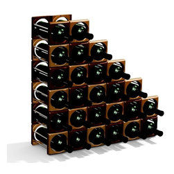 www.eurodesignmold.com - Multi wine rack - A wine rack for storage of 750-1000ml bottle of wine, make use of 2 pc of durable plastic covers and metal racks.