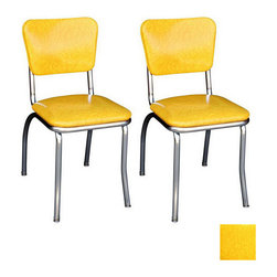 "Richardson Seating '50s Retro Chrome Dining Chair - Swap out your regular chairs with these retro beauties for an added ""diner"" touch in your kitchen."