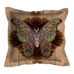 ecofirstart - Moth Blotch Pillow - You'll be instantly drawn to this pillow like a moth to a flame. Its design was created by Timourous Beasties, known for his provocative and surreal textiles and wallpaper patterns. Toss it on your couch, chaise or bed for a little pillow talk.