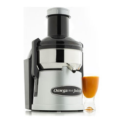 Omega - Omega Big Mouth Pulp-Ejection Juicer - Stainless Steel - Omega Big Mouth Pulp-Ejection Juicer - Stainless Steel - BMJ330   The Omega Big Mouth Juicer is a continuous, pulp-ejection style juicer with one huge advantage. Its extra large feed chute accommodates larger portions and even whole fruits! This results in less cutting and a greatly reduced preparation time, allowing you to concentrate more on the juicing itself. Designed for commercial use, this unit is rugged and durable, yet attractive enough to be featured prominently in any kitchen. Simply flip the switch and watch as the Big Mouth makes quick work of fruits and vegetables, extracting the maximum amount of juice in minimal time.