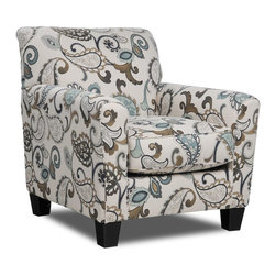 Yvette Steel Accent Chair - Living Spaces