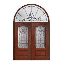 """Prehung Transom Double Door 80 Fiberglass Palacio Arch Lite Glass - SKU#MCR06195_DFAP2-HRUBrandGlassCraftDoor TypeExteriorManufacturer CollectionArch Lite Entry DoorsDoor ModelPalacioDoor MaterialFiberglassWoodgrainVeneerPrice4425Door Size Options2(36"""")[6'-0""""]  $0Core TypeDoor StyleDoor Lite StyleArch LiteDoor Panel Style1 PanelHome Style MatchingDoor ConstructionPrehanging OptionsPrehungPrehung ConfigurationDouble Door and Half Round TransomDoor Thickness (Inches)1.75Glass Thickness (Inches)Glass TypeDouble GlazedGlass CamingBlackGlass FeaturesTempered glassGlass StyleGlass TextureGlass ObscurityDoor FeaturesDoor ApprovalsEnergy Star , TCEQ , Wind-load Rated , AMD , NFRC-IG , IRC , NFRC-Safety GlassDoor FinishesDoor AccessoriesWeight (lbs)876Crating Size36"""" (w)x 108"""" (l)x 89"""" (h)Lead TimeSlab Doors: 7 Business DaysPrehung:14 Business DaysPrefinished, PreHung:21 Business DaysWarrantyFive (5) years limited warranty for the Fiberglass FinishThree (3) years limited warranty for MasterGrain Door Panel"""