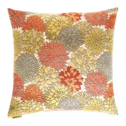 """Canaan - 24"""" x 24"""" Mumsford Floral Print Throw Pillow - Mumsford floral print throw pillow with a feather/down insert and zippered removable cover. These pillows feature a zippered removable 24"""" x 24"""" cover with a feather/down insert. Measures 24"""" x 24"""". These are custom made in the U.S.A and take 4-6 weeks lead time for production."""