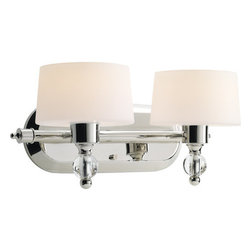 Progress Lighting - Progress Lighting P2920-104WB Fortune Two-Light Traditional Bathroom Fixture - Progress Lighting P2920-WB Fortune Collection Bathroom Light