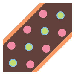 York Wallcoverings - Brown Polka Dots Circles Self Stick Wall Border Accent Roll - Features: