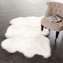 Prairie Sheepskin/Wool White Shag Rug