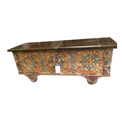 Antique Console Trunk - 45 x18x16 inches