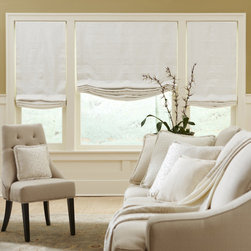 Boutique - Boutique Relaxed Roman Shade - Our Relaxed Roman Shade redefines beauty and can introduce elegance into any room.