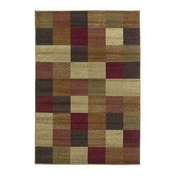 Lifestyles 5426 Beige Squares Rug - Our Lifestyles Collection is machine-woven in Turkey of 100% heat-set polypropylene. Stylish and yet very affordable, Lifestyles truly lives up to its name by offering trend colors and designs in traditional, contemporary, and transitional patterns. The wide range of sizes will also make it a perfect fit in almost any room in your home.