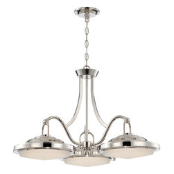 Nuvo Lighting - Nuvo Lighting 62/176 Contemporary Polished Nickel PendantSawyer Collection - Sawyer - LED Dinette Fixture