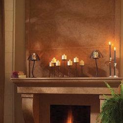 "Cortessa stone fireplace overmantel - ""omega cast stone fireplace mantle"""