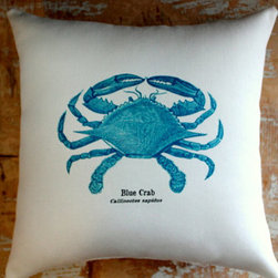 Blue Crab Pillow by Paris Marketplace - I love this blue crab. I think it will look wonderful as an accent pillow.