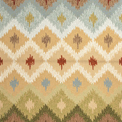 Jaipur Rugs - Abstract Pattern Beige /Brown Indoor/ Outdoor Rug - BA10, 9x12 - Not ready for that second home in Spain quite yet? Bring the warmth of Catalonia home right now with this Barcelona-inspired rug. The warm, dusty colors and festive pattern will transport you back to days spent strolling La Rambla. Bring the rug outside on hot nights for a fiesta of your very own.