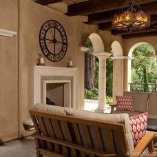 Mediterranean Patio by Alison Whittaker Design, Inc.