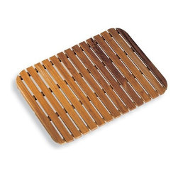 WS Bath Collections - Tapie 7222 Shower Mat - Tapie by WS Bath Collections Shower Mat 21.3 x 29.1 in Teak Wood