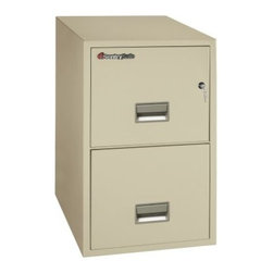 SentrySafe G3131 Fire Resistant 2 Drawer Legal Filing Cabinet - The wide SentrySafe G3131 Fire Resistant 2 Drawer Legal Filing Cabinet has survived a 30-foot drop test and features a Medeco high-security lock that protects against picking, drilling, and other forms of attack. It not only keeps your most important documents organized and secure, it safeguards them against the most common office disasters. Solid metal construction and brilliant engineering have made this safe capable of protecting your papers from water and fire damage as well as being completely impact resistant. Two locking, storage drawers glide in and out with ease and accommodate legal-and letter-sized hanging folders. The overall dimensions of this unit are 19.6W x 31D x 27.6H inches. Available in your choice of black, light gray, and putty finish.Shipping OptionsDock-to-Dock Freight ServiceNo additional charge. Dock-to-dock includes commercial freight delivered to a commercial loading dock. Recipient is responsible for unloading product, final placement, unpack, and debris removal. Not available for residential deliveries.Curbside DeliveryDelivery personnel will present goods to ground level at rear of delivery vehicle. Recipient is responsible for final movement of goods, unpack, and debris removal. Curbside delivery will not bring the item up to a residence.Threshold ServiceDelivery personnel will remove goods from truck and place goods inside first exterior doorway, garage, or carport. Service includes up to four steps exterior to the first doorway. Customer is responsible for final product placement, unpack, and debris removal. Inside Delivery ServiceDelivery personnel will remove goods from truck, place goods in your room of choice, and complete unpack and debris removal. Includes lift gate service and stair carry of 0-4 internal and external steps. Does not include site preparation or protection.About SentrySafeFor over three generations, family-owned SentrySafe has been with you, protecting your valuables, providing you peace of mind. SentrySafe uses rigorous testing standards to ensure your items are protected from fire, water, and theft. They offer safes in a wide range of sizes and types, and continue to innovate protection technology. They are proud to make all of their products right here in the United States. SentrySafe is a name you can trust for all your irreplaceable items.