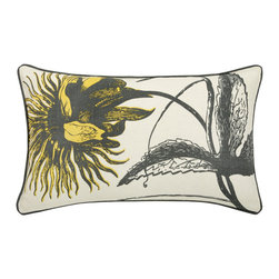 Thomas Paul - Botanicals Linen Pillow, Botanical - If only it was possible to sew all the Thomas Paul pillows together into a sofa. It would be the most talked about sofa in town. All the bright colored fauna and flora, the patchwork of silk and linen--it would truly be a masterpiece. The only thing that keeps us from doing this is--we don't know how to sew. And then there is that business about somehow attaching legs. We're even more clueless on how to do that.